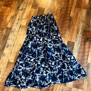 UO BAND OF GYPSIES Blue Maxi Skirt
